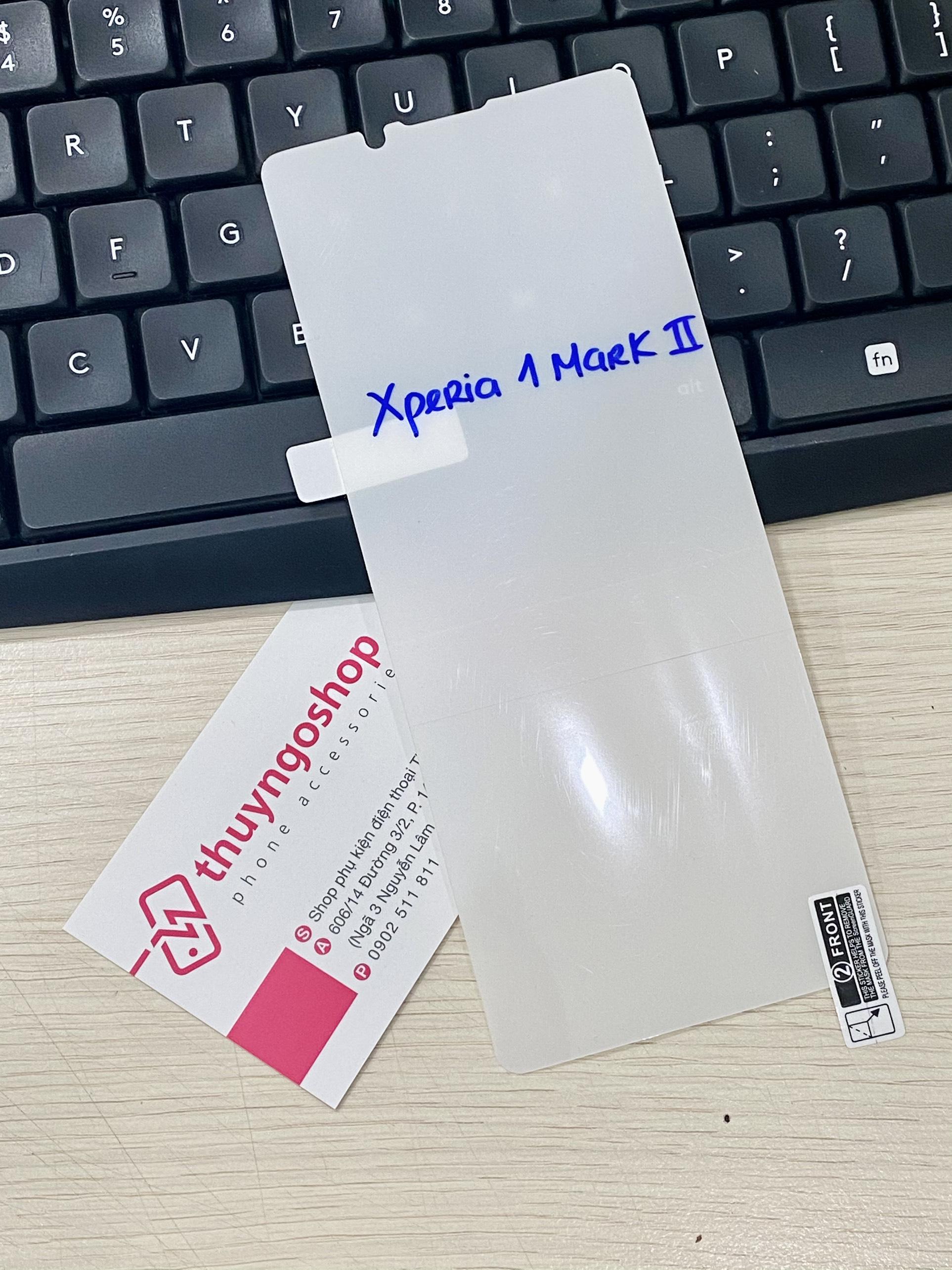 PPF dán màn hìnhtrong suốt / nhám chống vân tay 100% Sony Xperia 1Mark II