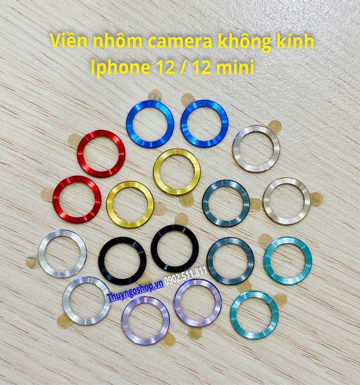 Dán kim loại chống trầy viền camera Iphone 12 Mini