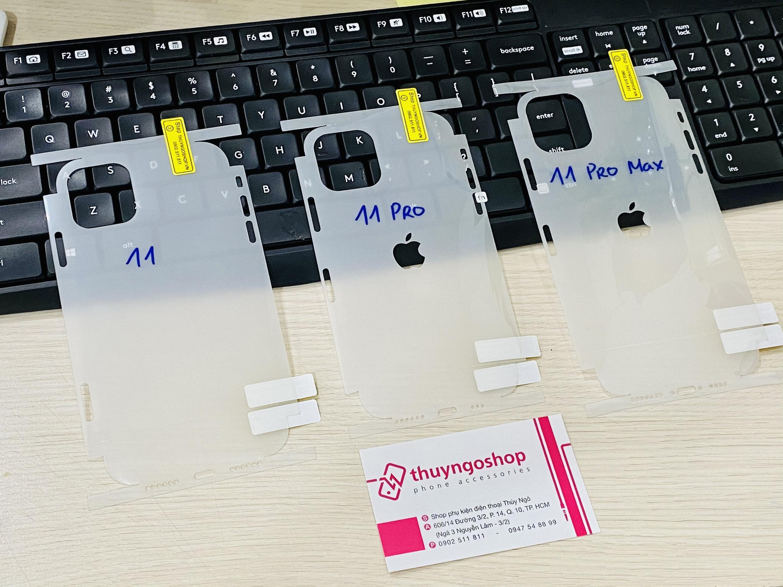 PPF full viền Iphone 11 Pro Max - Trong suốt / Mờ chống vân tay