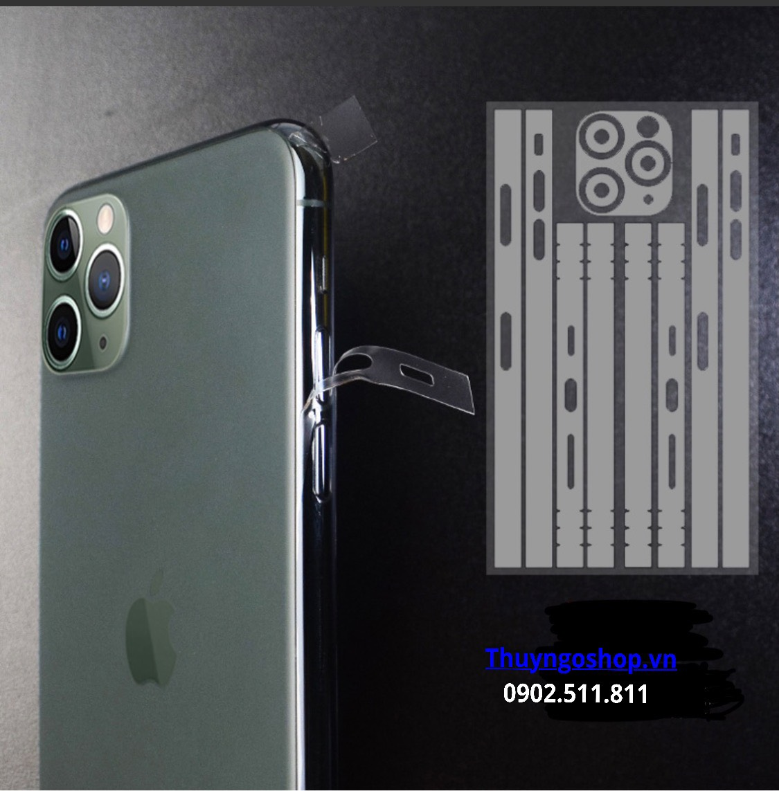 PPF 4 cạnh viền trong suốt / mờ Iphone 11 Pro