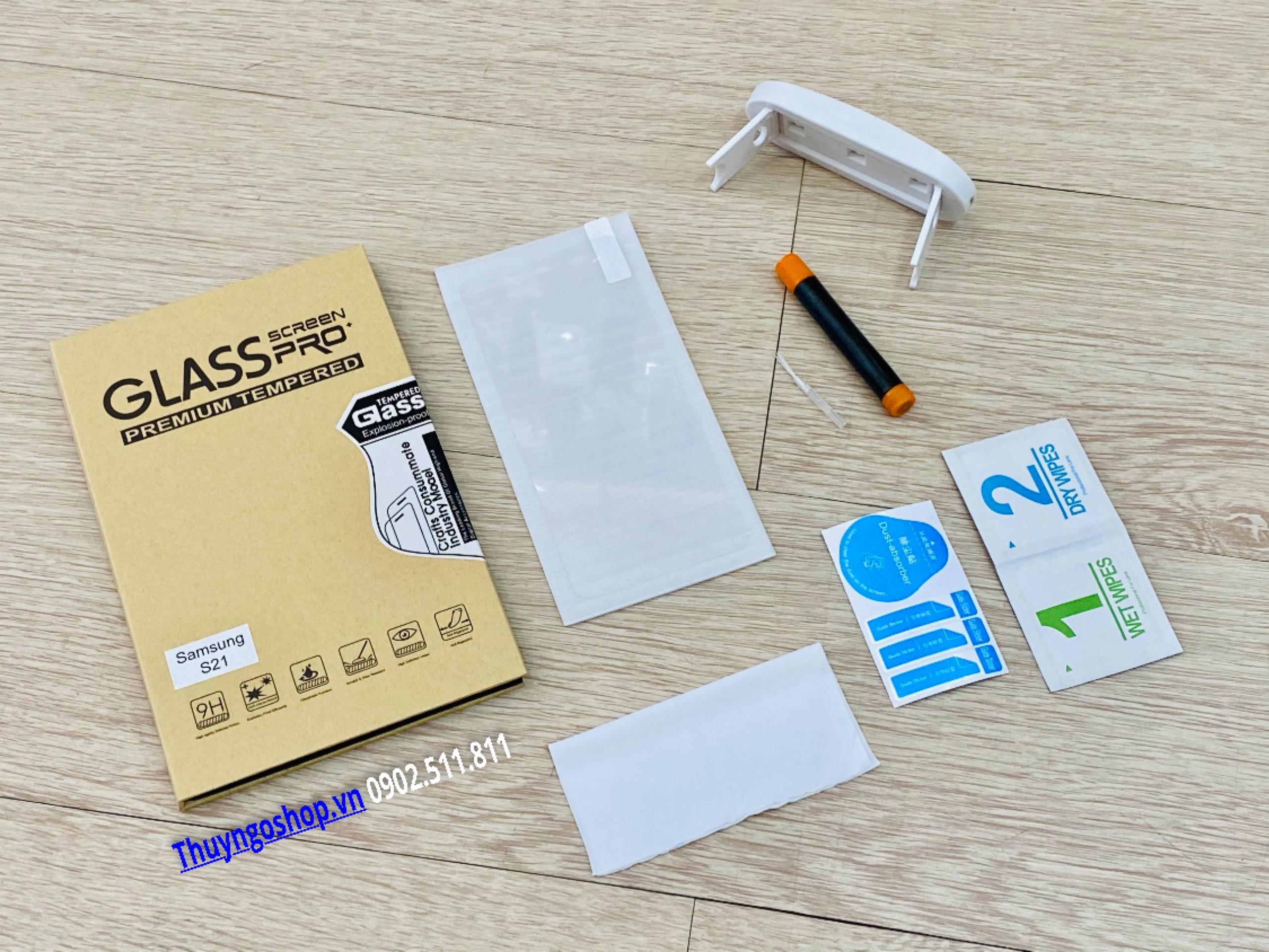 Samsung S21 - Kính cường lực UV (100% nhận mở khóa vân tay)