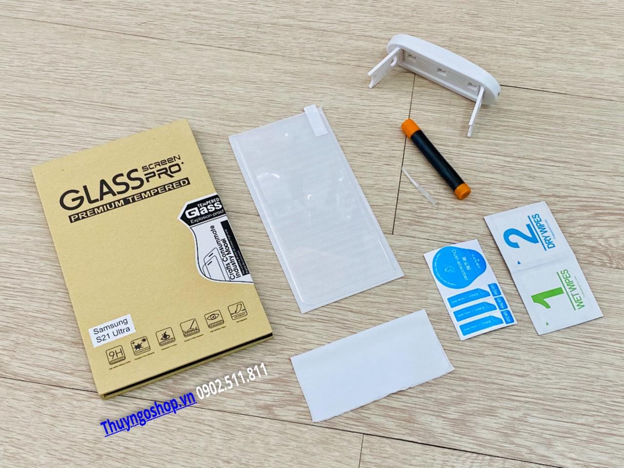 Samsung S21 Ultra - Kính cường lực UV (100% nhận mở khóa vân tay)
