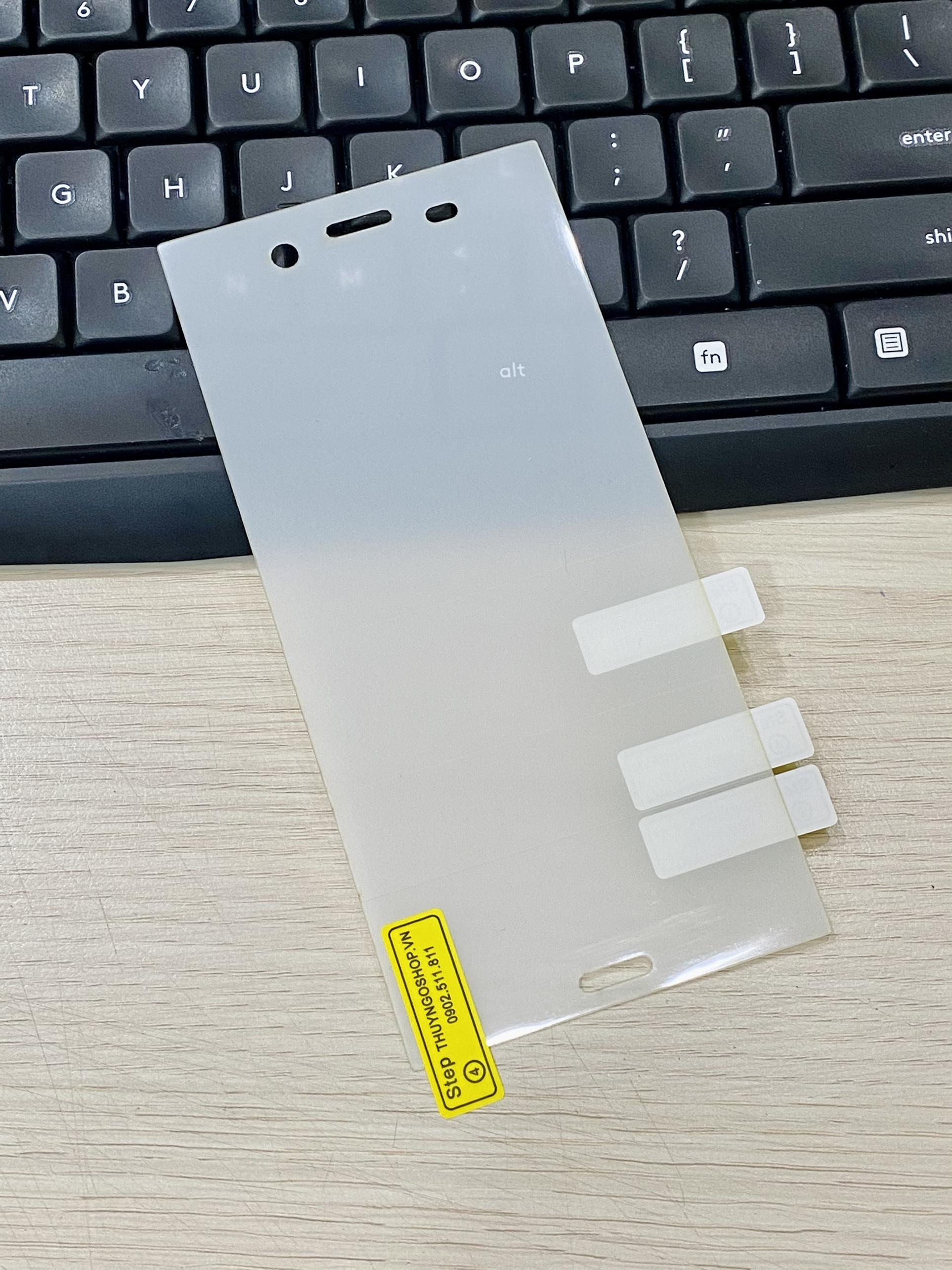 PPF dán màn hình trong suốt / nhám chống vân tay 100% Sony XZ1