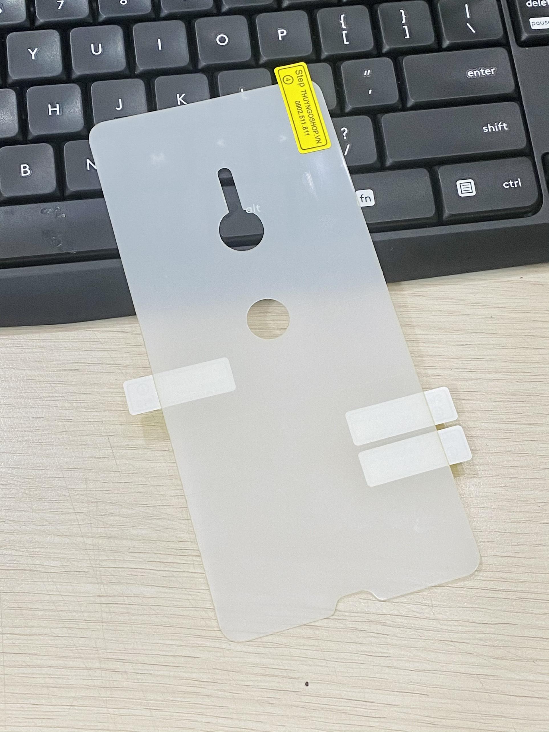 PPF mặt lưng trong suốt / mờ chống vân tay Sony XZ3