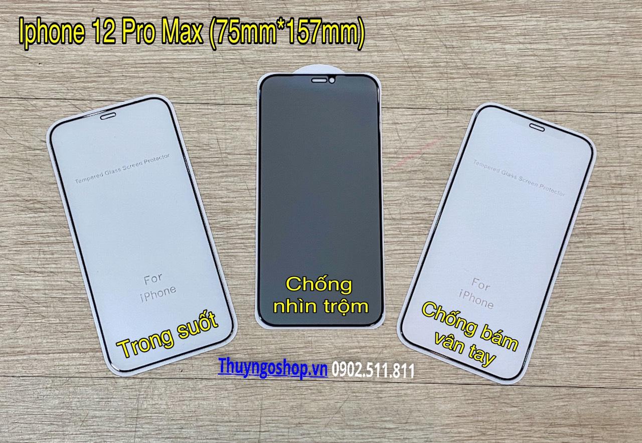Kính cường lực full màn hình Iphone 12 Pro Max