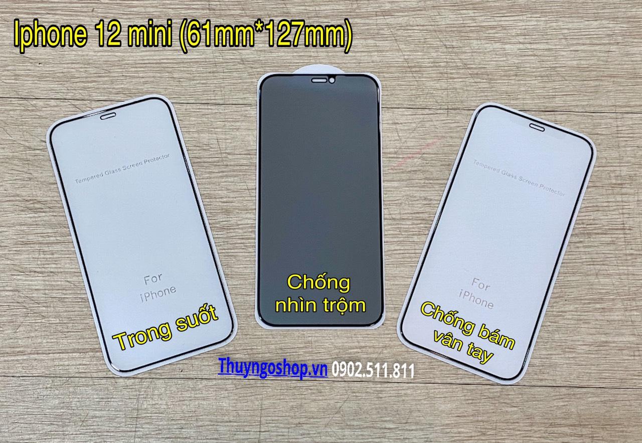 Kính cường lực full màn hình Iphone 12 mini