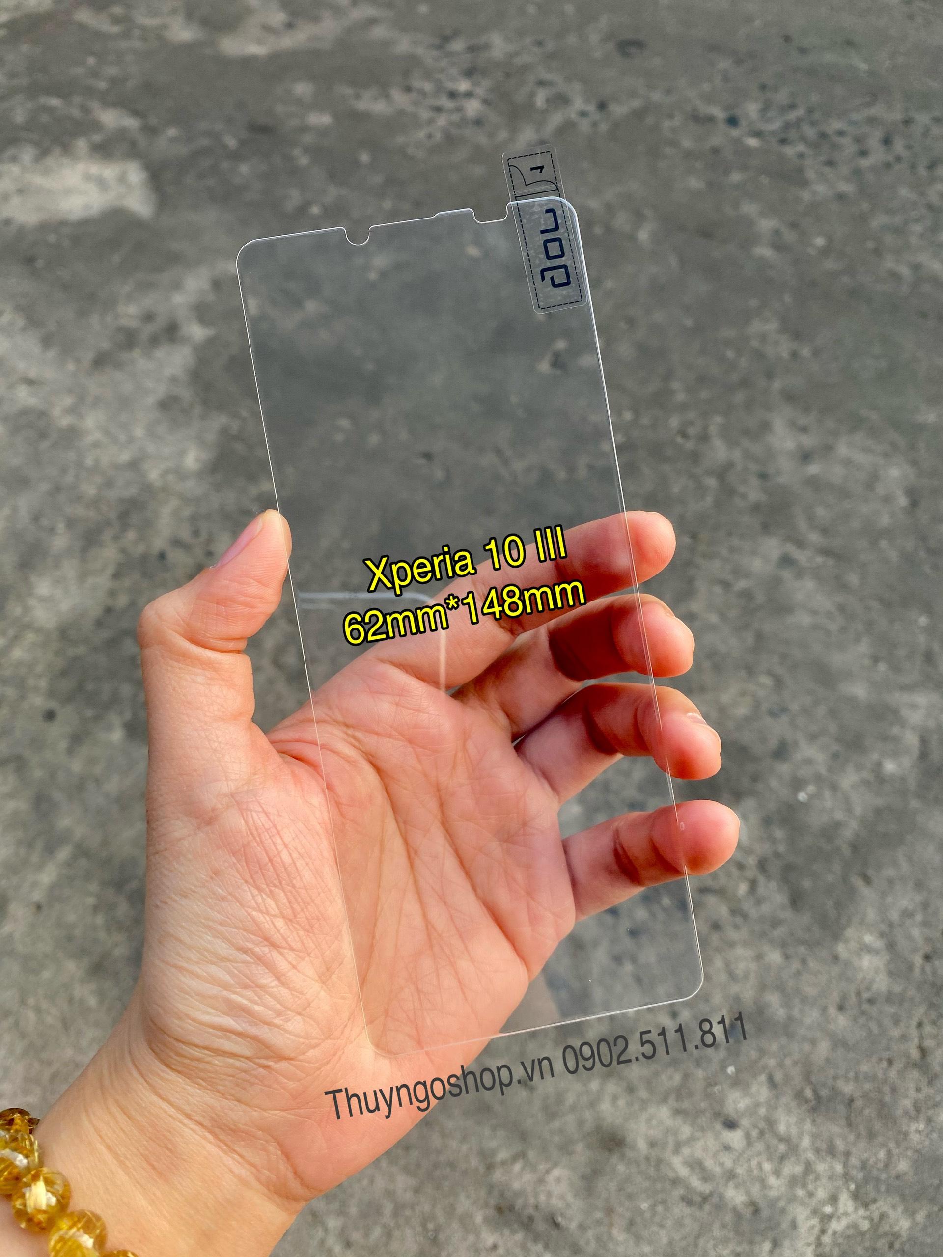 Kính cường lực trong suốt Sony Xperia 10 III
