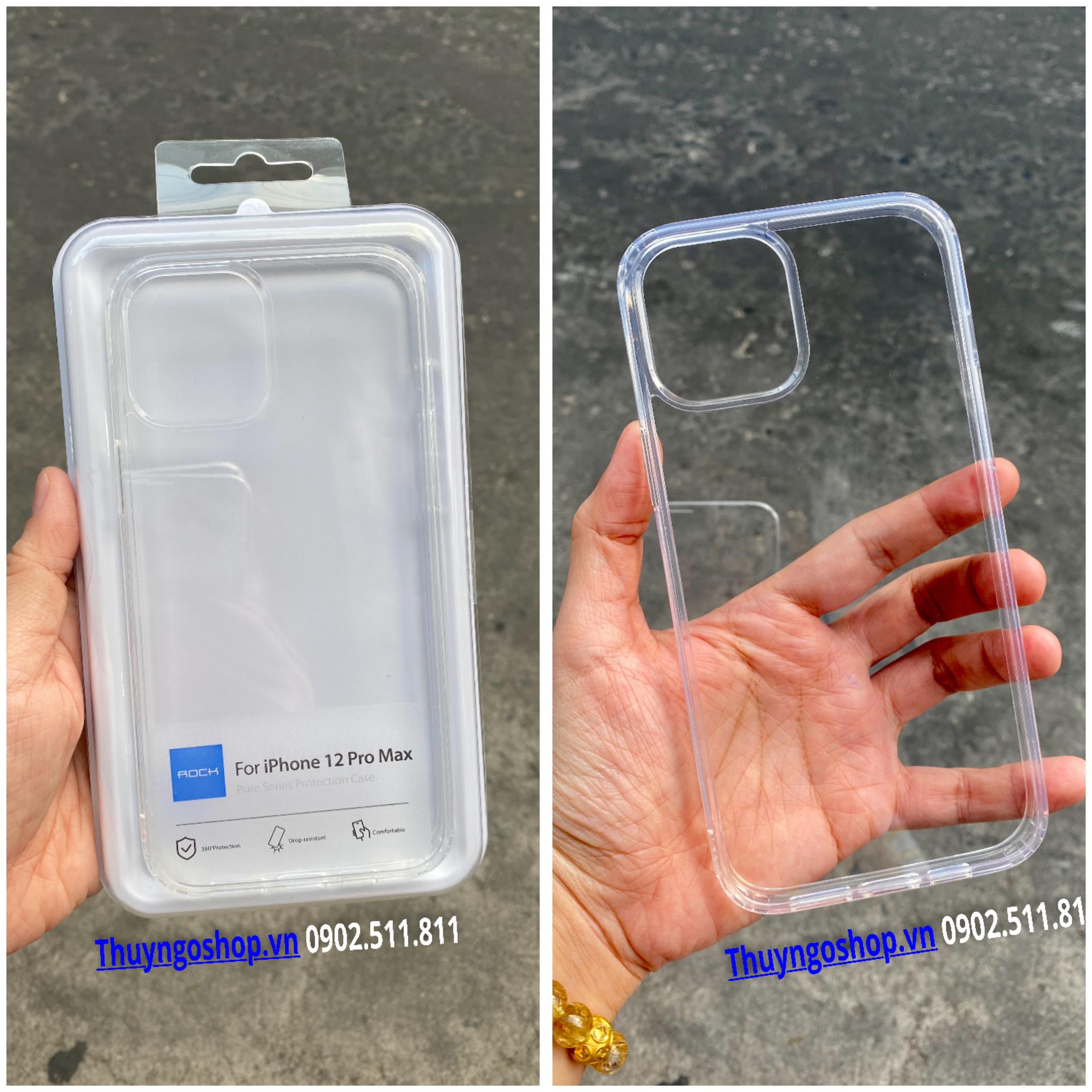 Ốp chống sốc chính hãng ROCK Iphone 12 Pro Max