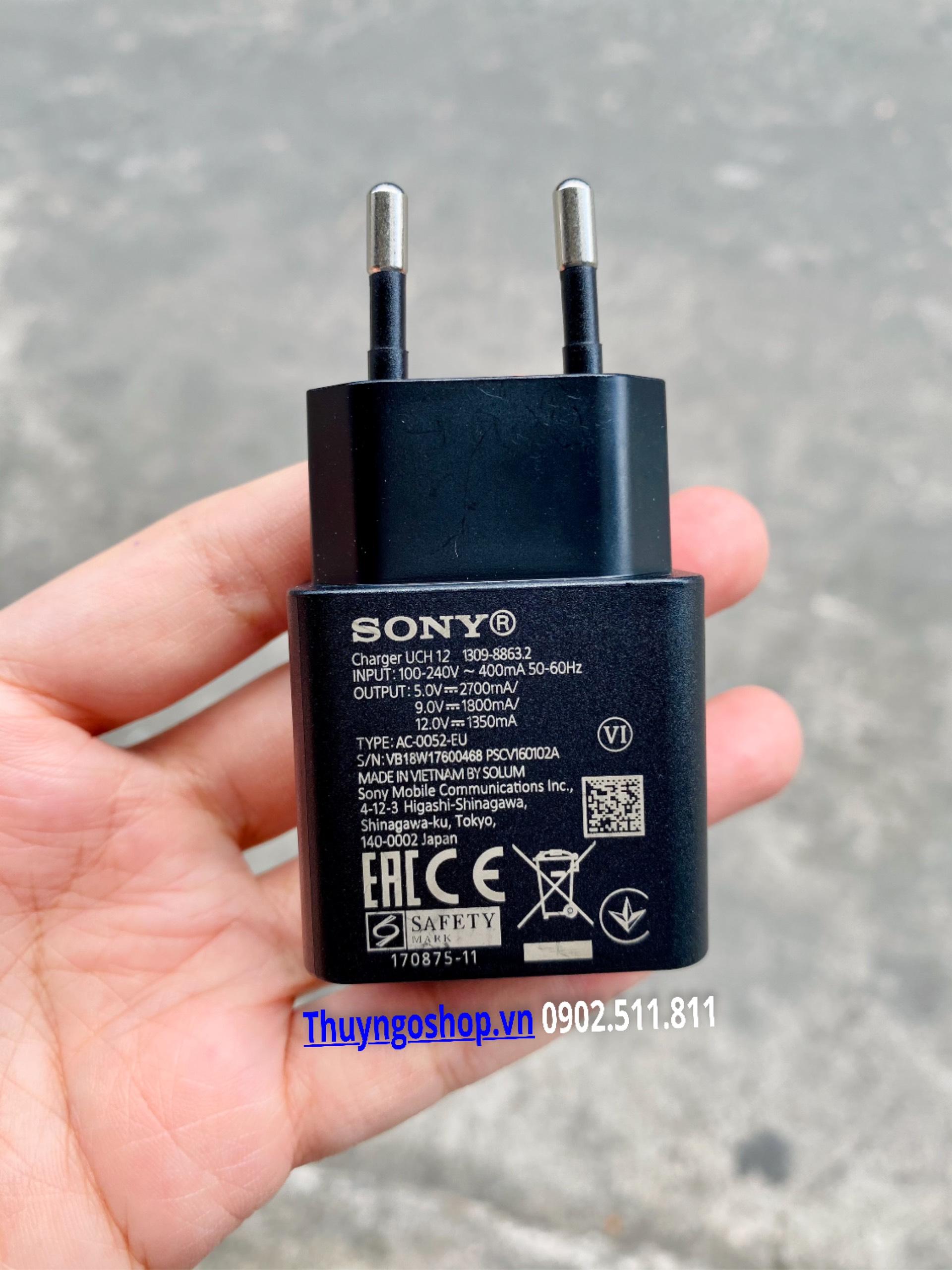 Củ sạc UCH12 chính hãng Sony QC 3.0