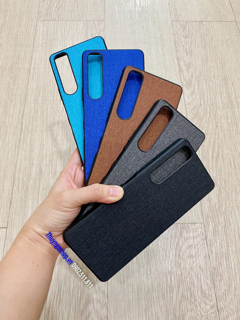 Ốp lưng vải viền nhựa dẻo Sony Xperia 1 III
