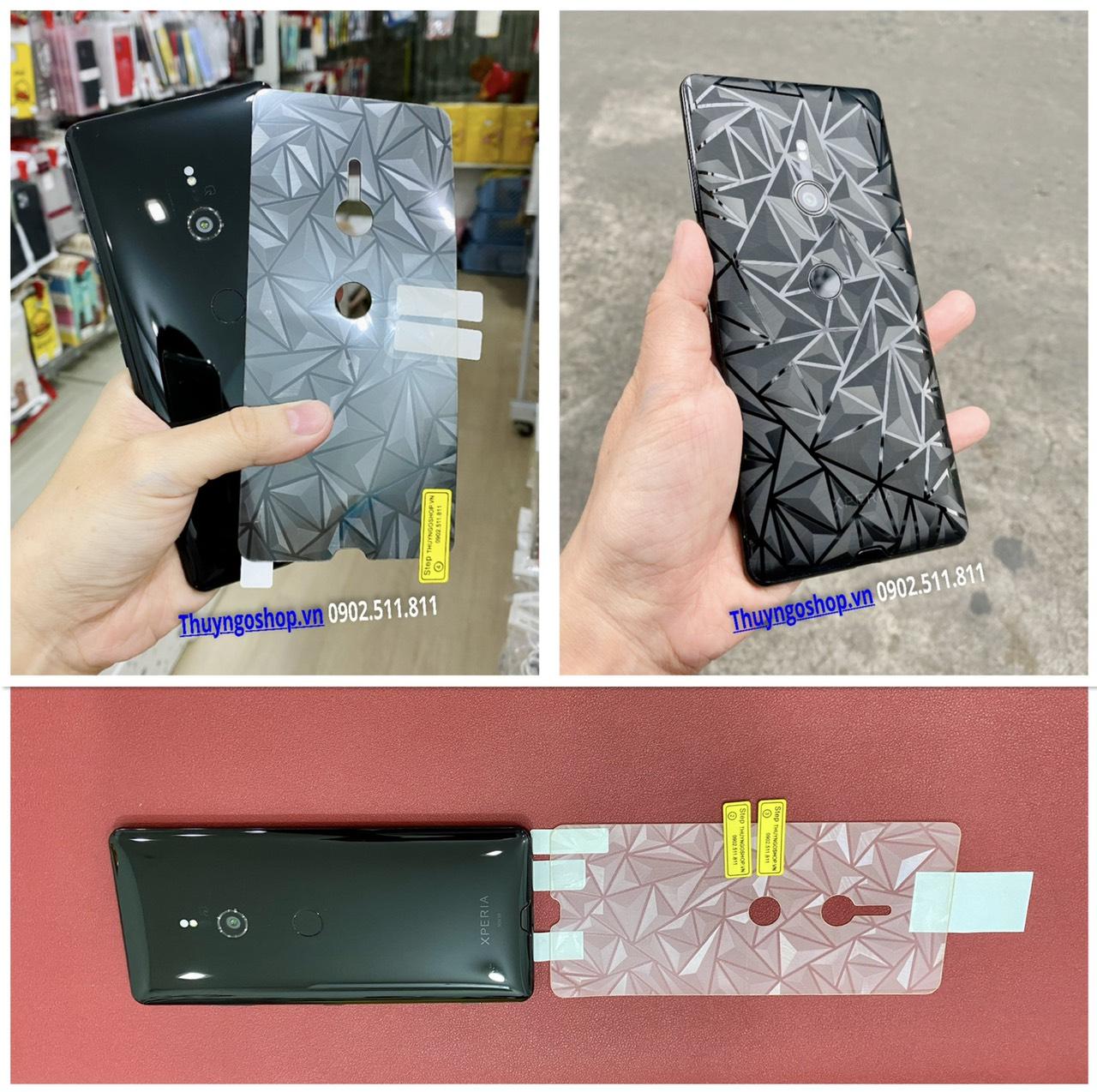Dán mặt lưng 3D Kim cương Sony XZ3