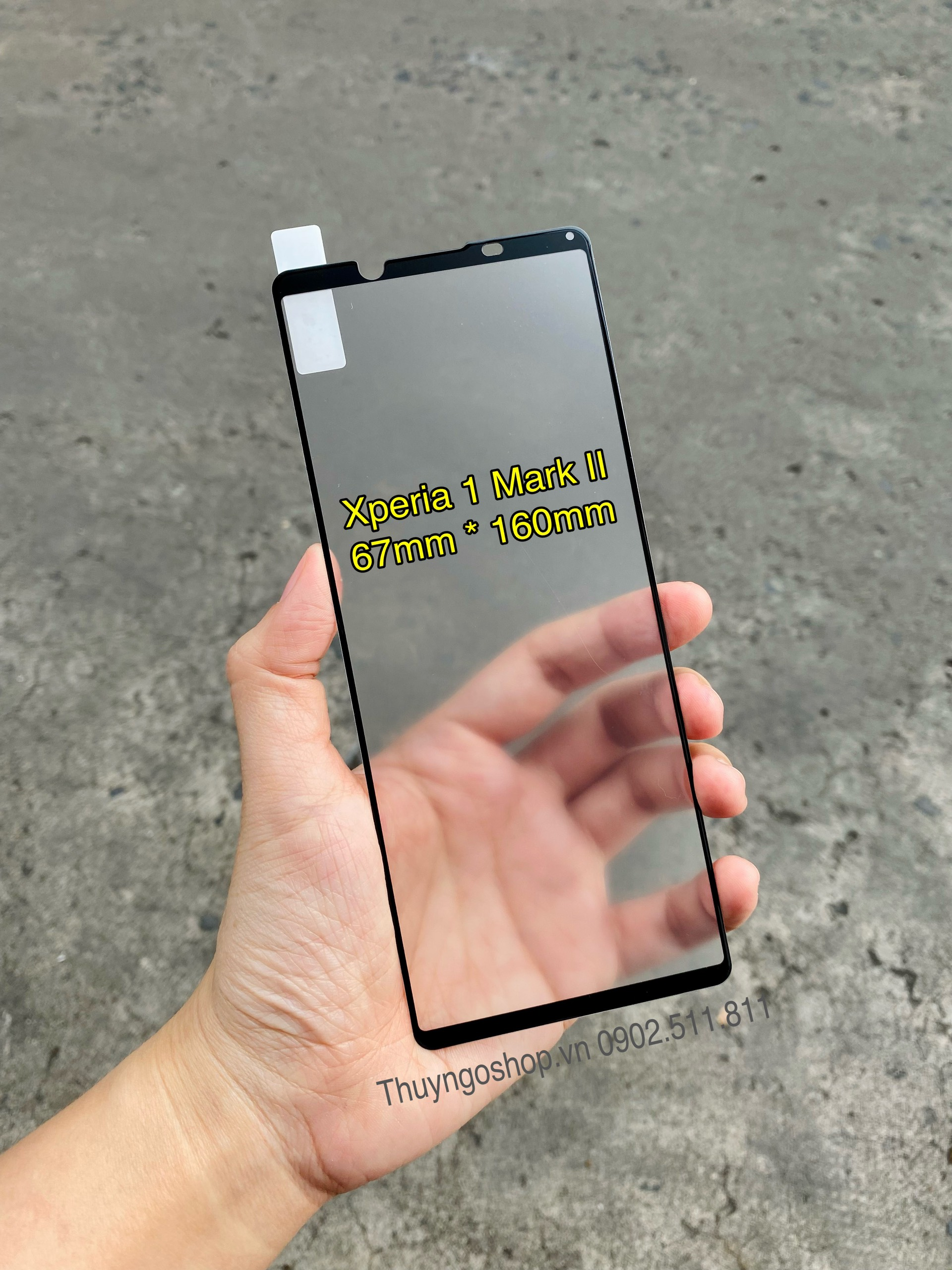 Kính cường lực chống bám vân tay Sony Xperia 1 Mark II full màn hình