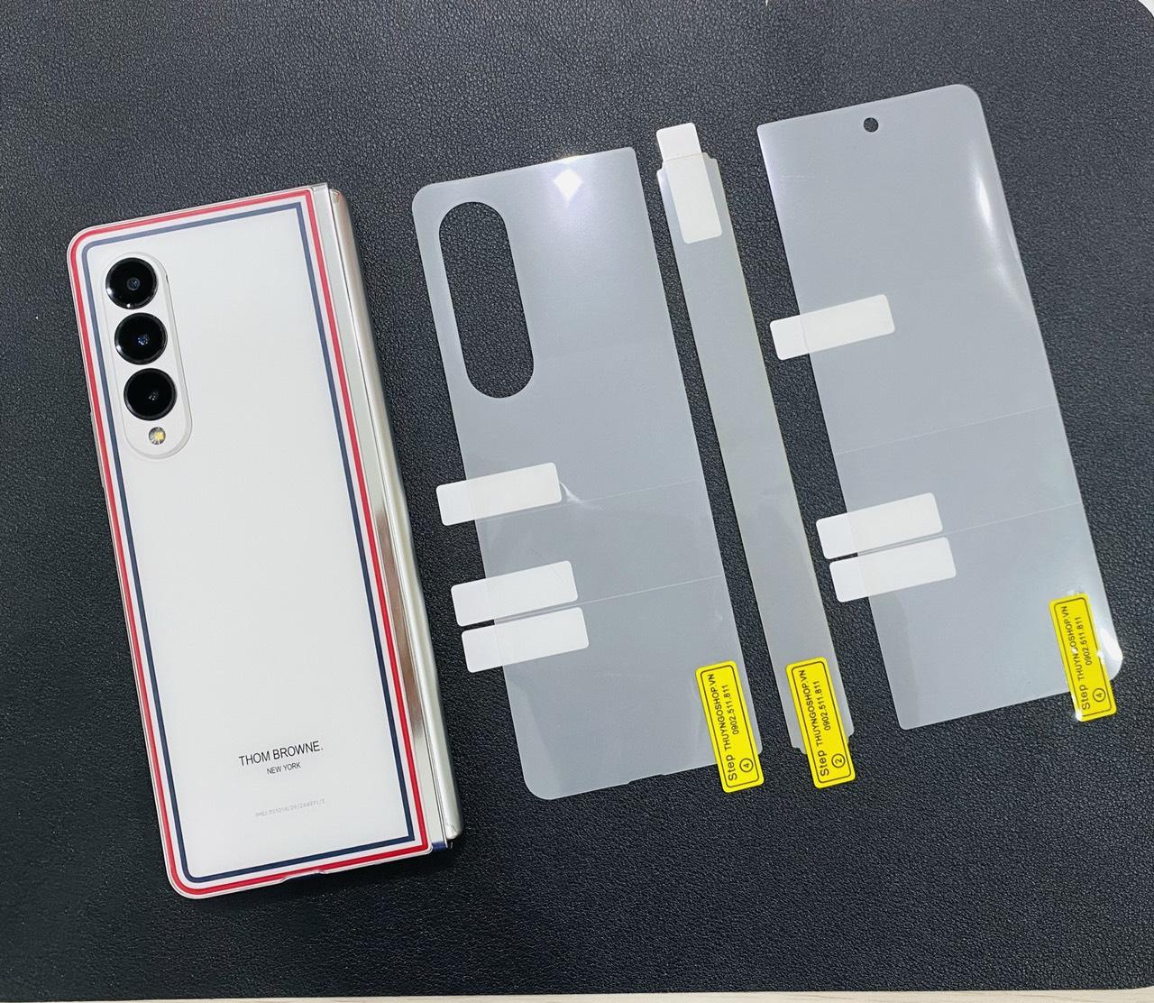 PPF mặt lưng trong suốt / mờ chống vân tay Samsung Z Fold 3