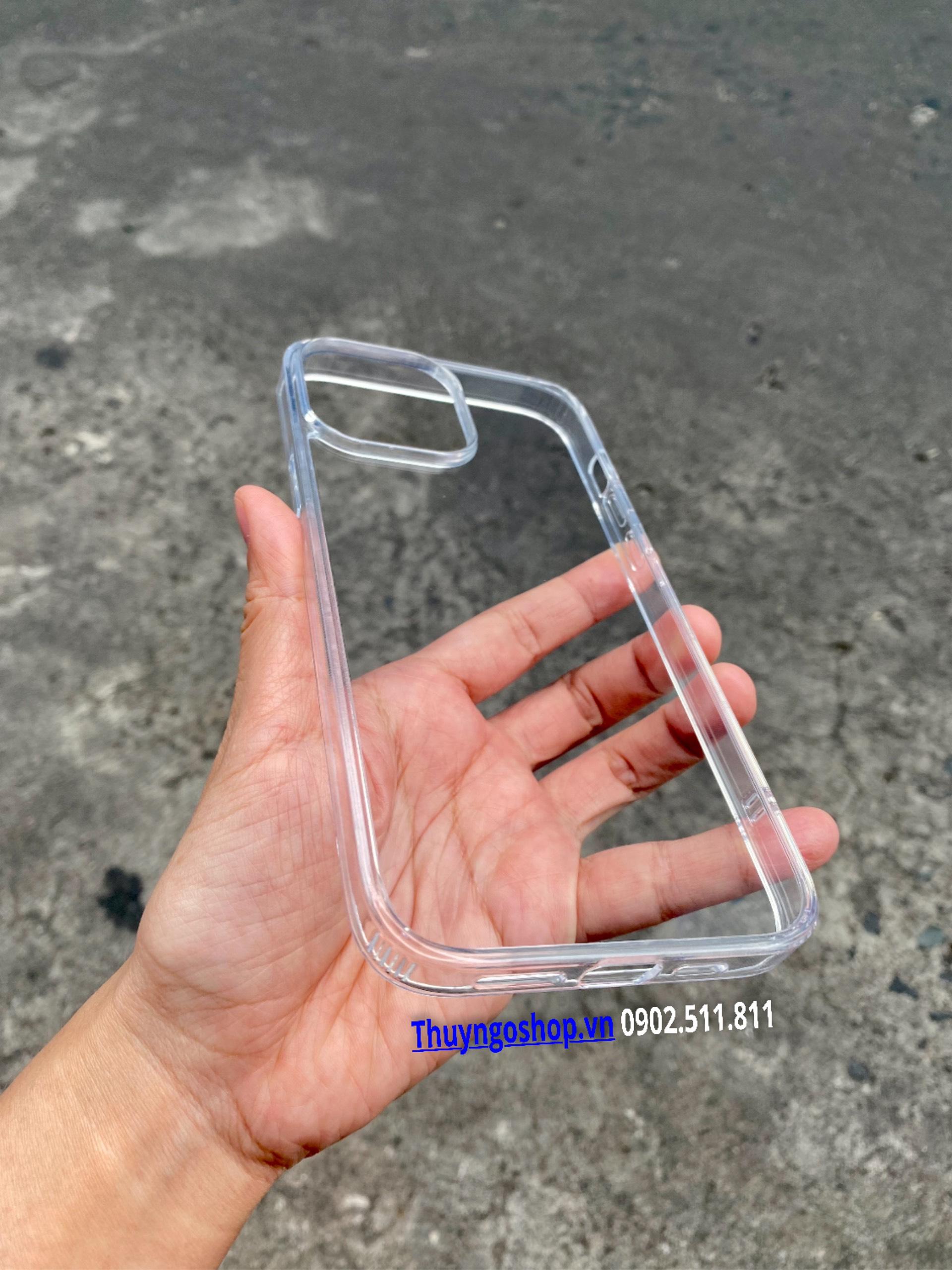 Ốp lưng kính cường lực, 4 cạnh viền nhựa dẻo silicon Iphone 13