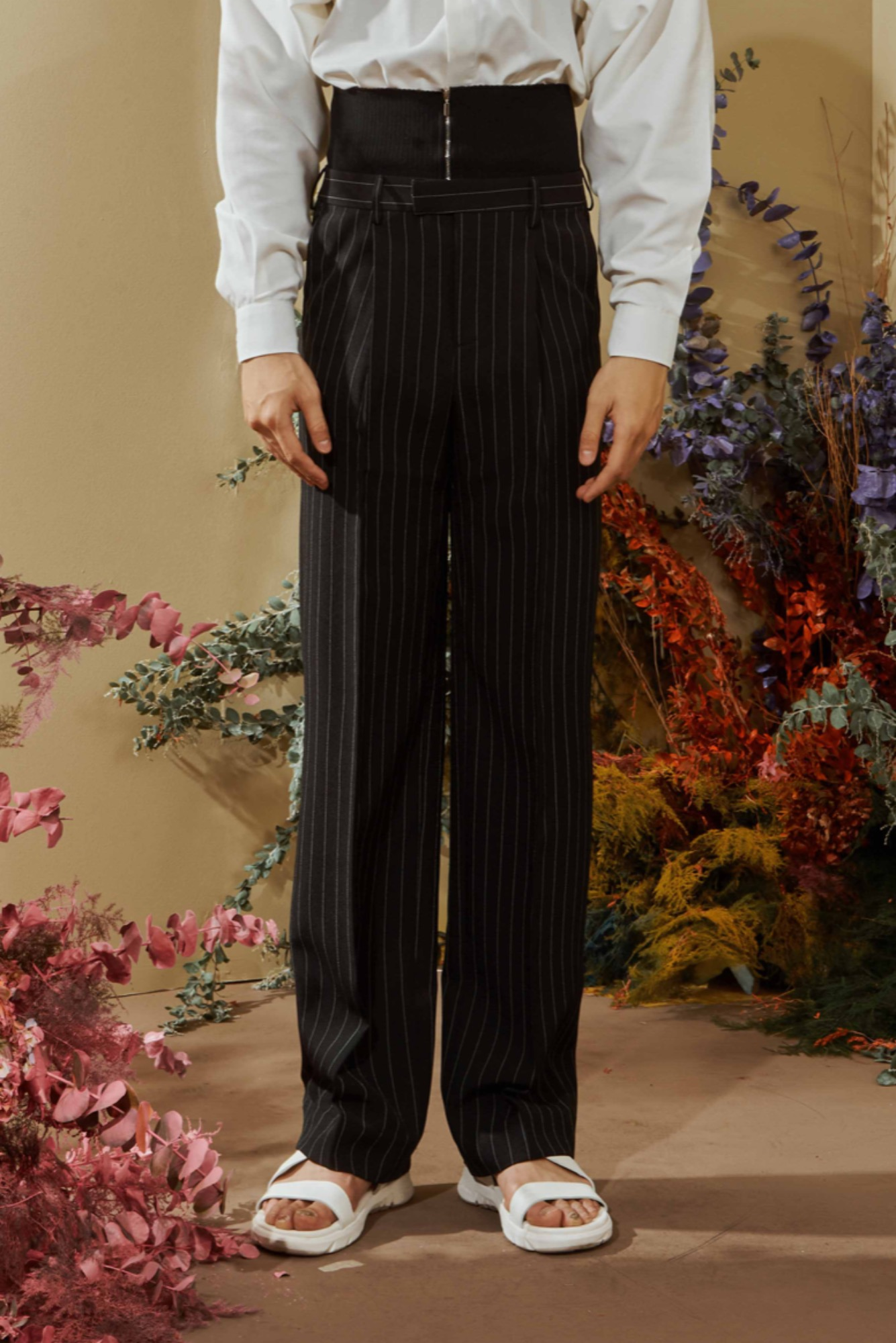 PLATO STRIPE TROUSER