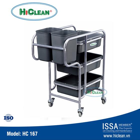 Xe đẩy phục vụ bàn HiClean HC 167