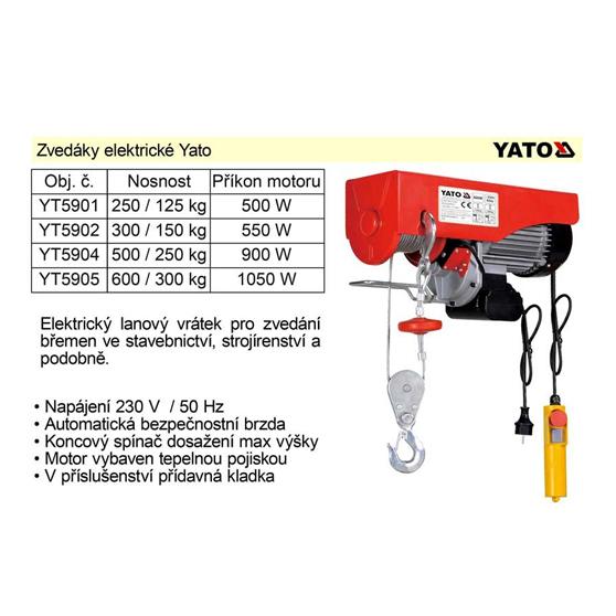Tời điện Yato YT-5905 300/600kg