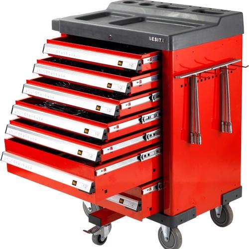 Tủ đồ nghề KOCU (6 ngăn- màu đỏ đen) KC-142PCS