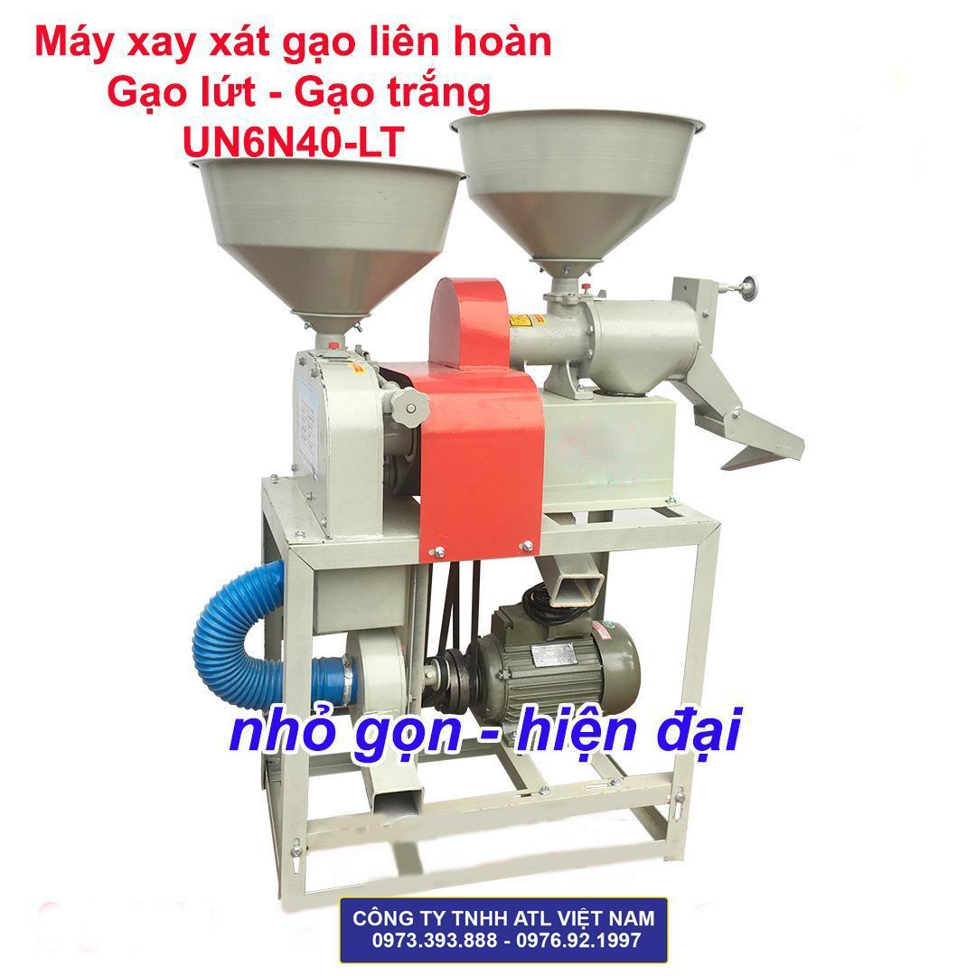 Máy xay xát liên hoàn gạo lứt- gạo trắng 6N40-LT