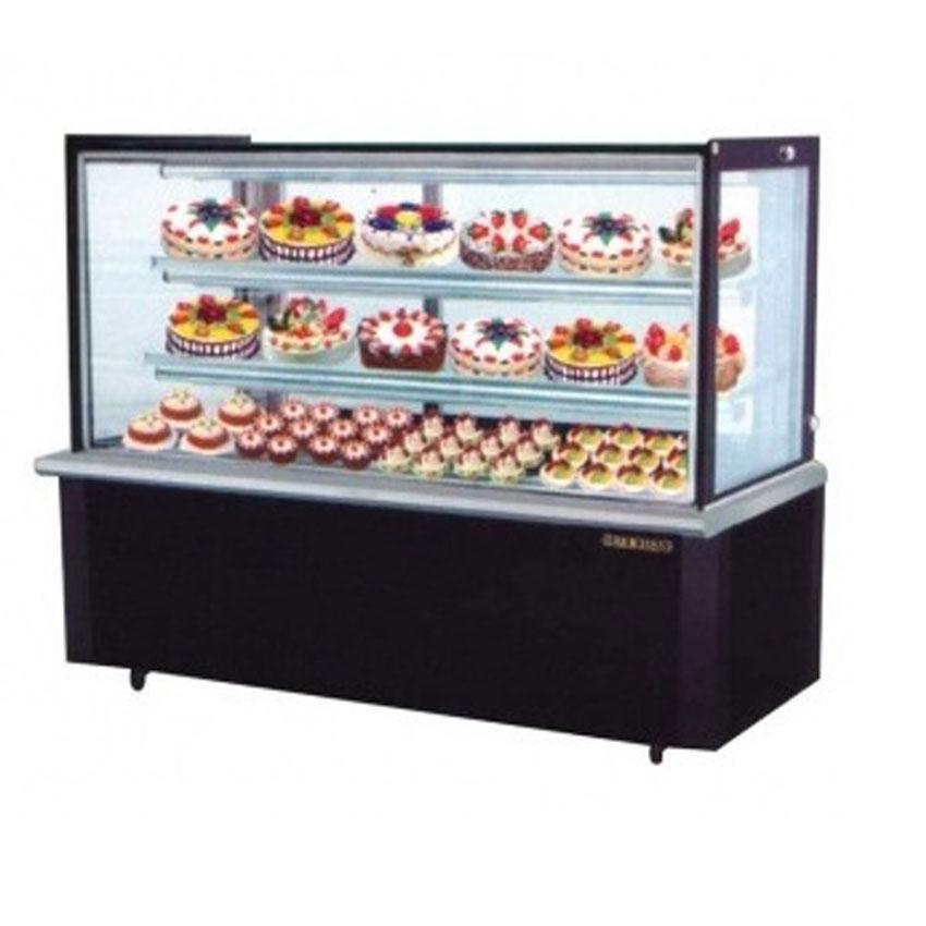 Tủ mát trưng bày bánh kính vuông BERJAYA model RCS18SB13-2FB