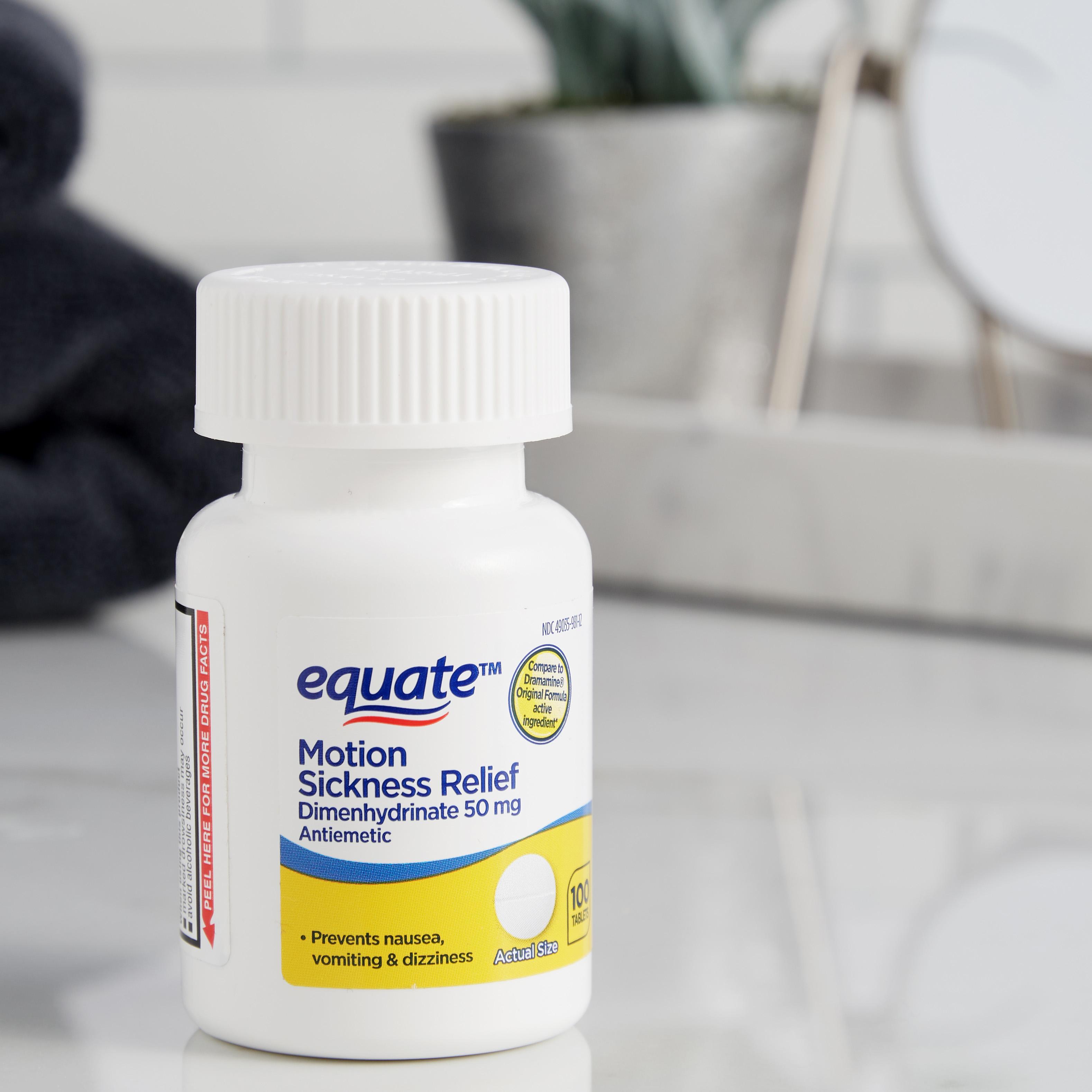 Thuốc say xe Equate 100 viên - Giảm nhanh các triệu chứng say tàu xe