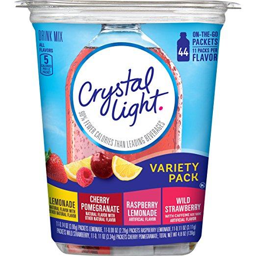 Bột pha nước trái cây CRYSTAL LIGHT 44 gói/hộp - đặc biết dành cho người ăn kiêng, DAS, Keto, bệnh đường huyết