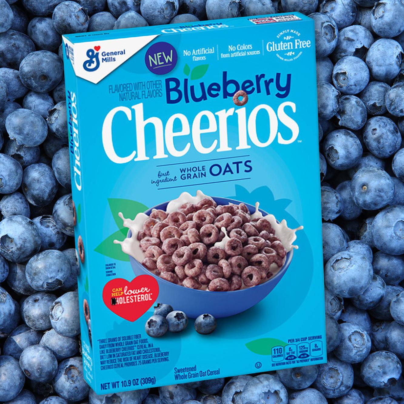 Ngũ cốc ăn sáng Cheerios Blueberry Cereal 309g