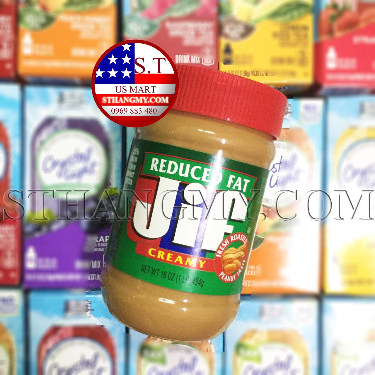 Bơ đậu phộng JIF Creamy Reduced Fat 454 gram/hộp