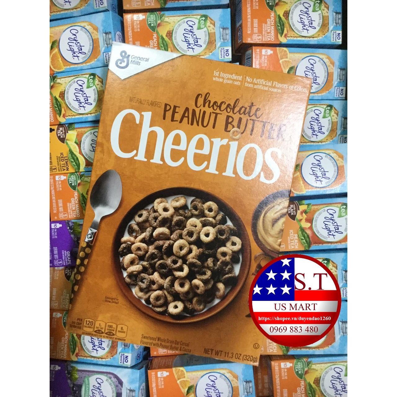 Ngũ cốc Cherrios chocolate bơ đậu phộng 320g - Cheerios Chocolate Peanut butter 11.3 oz