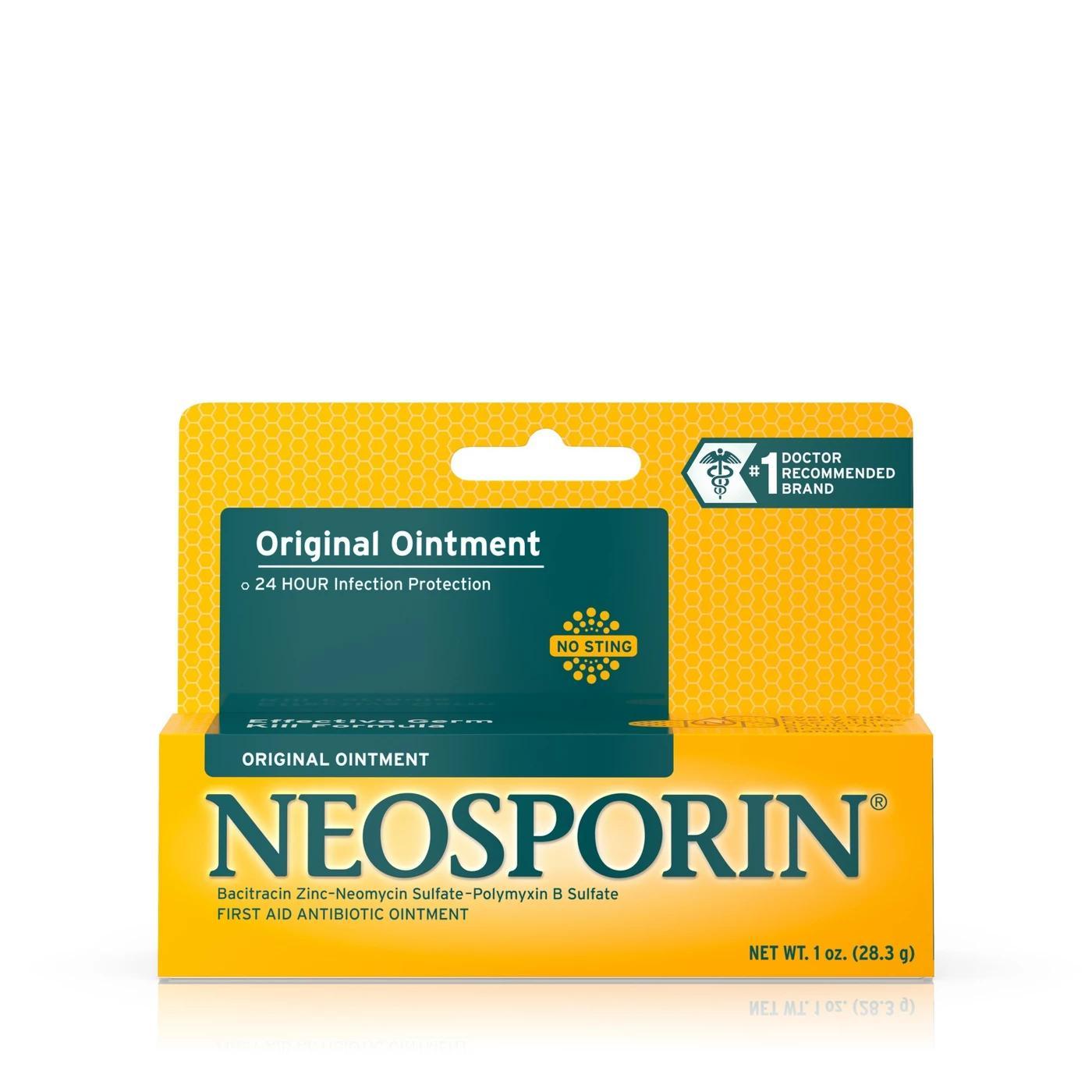 Neosporin Original 28.3g   Kem mỡ sát trùng sơ cứu vết thương   Mua tại Mỹ