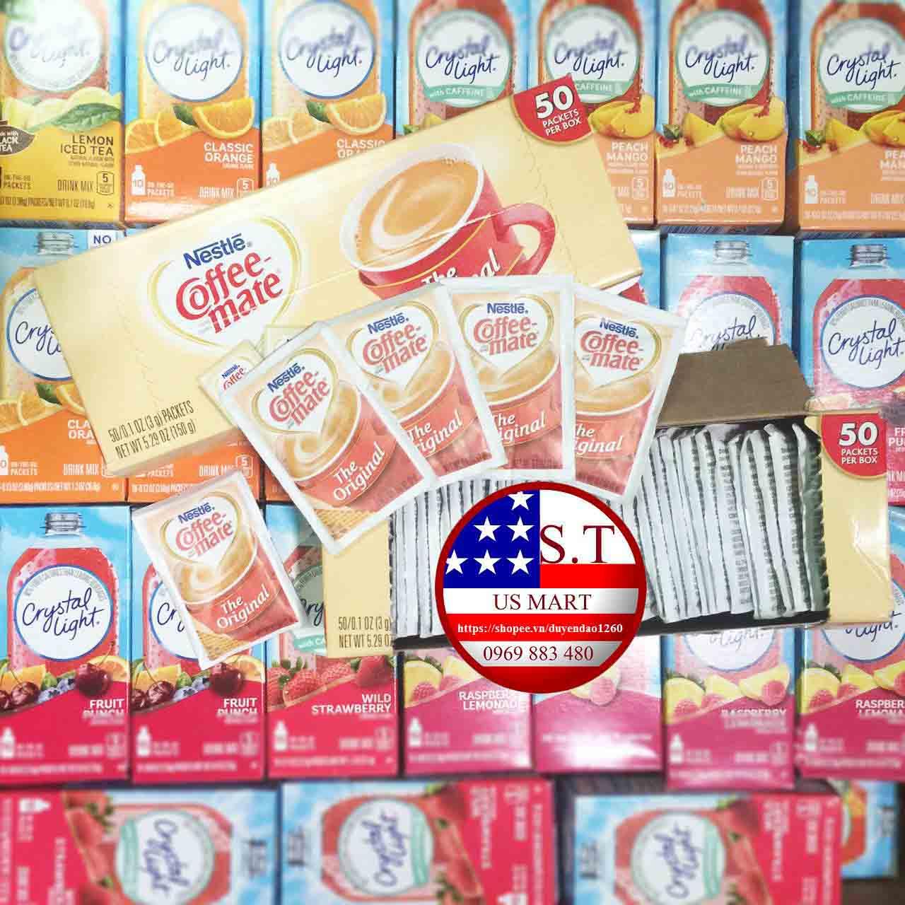 Bột kem Coffee Mate Orginal gói nhỏ 3g| Nhập trực tiếp tại Mỹ