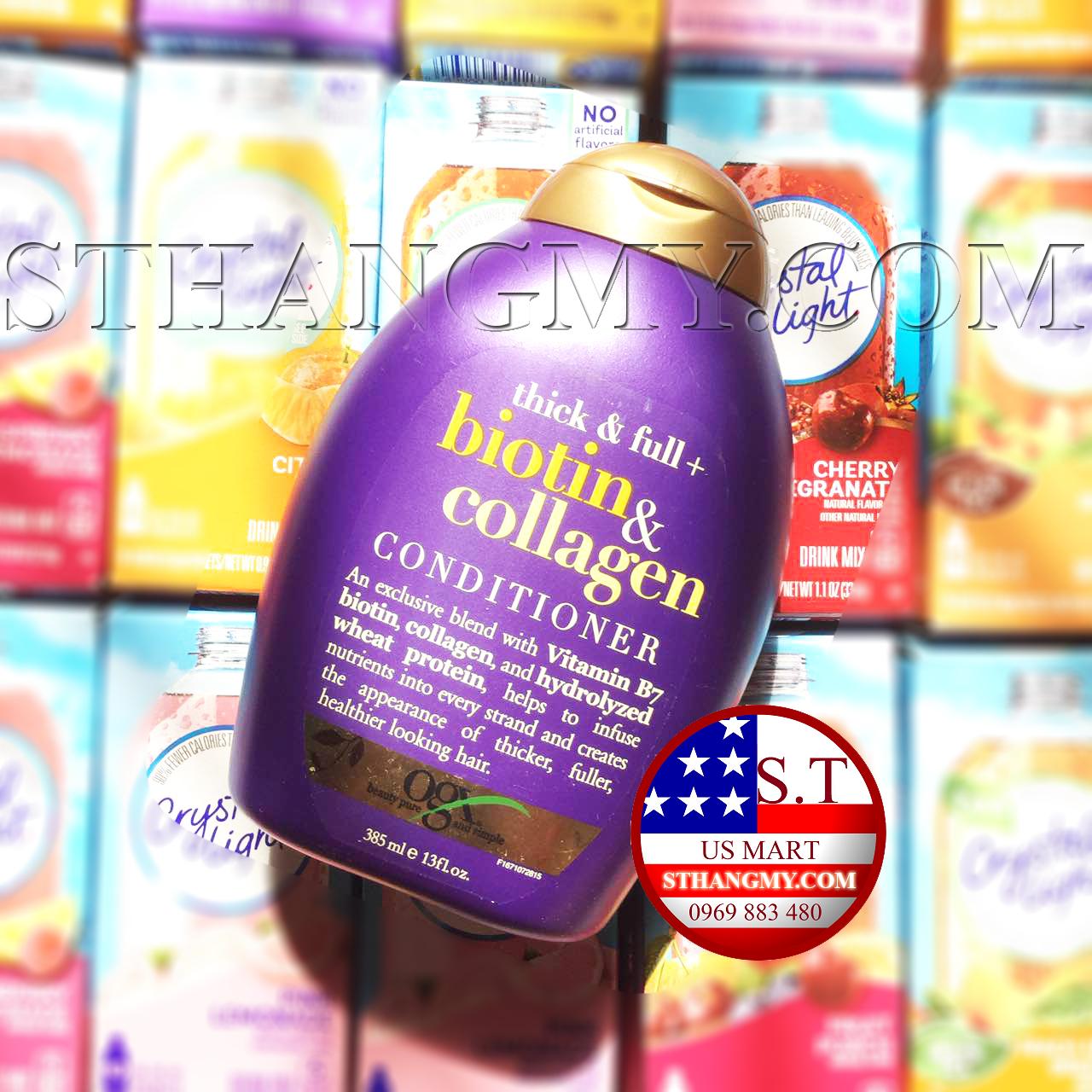Dầu Xả Làm Dày Tóc OGX Thick & Full Biotin & Collagen Conditioner - 385ml