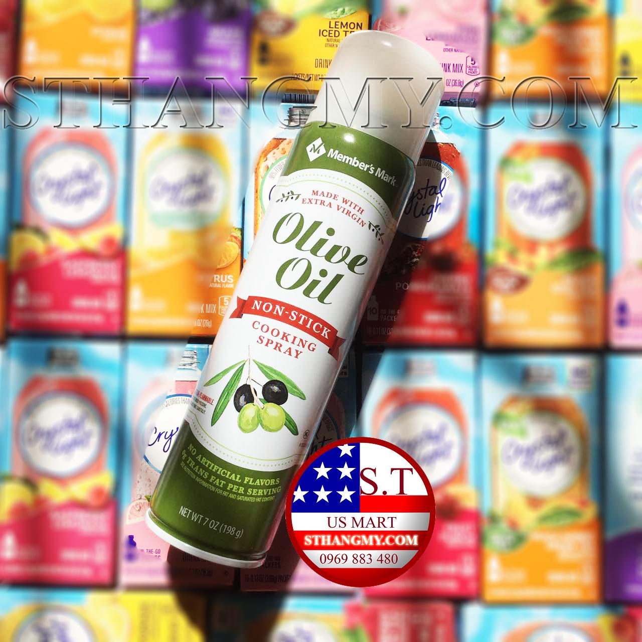 Dầu ăn kiêng Olive Member's Mark (650 lần xịt) - Eat Clean, Gymer, Keto