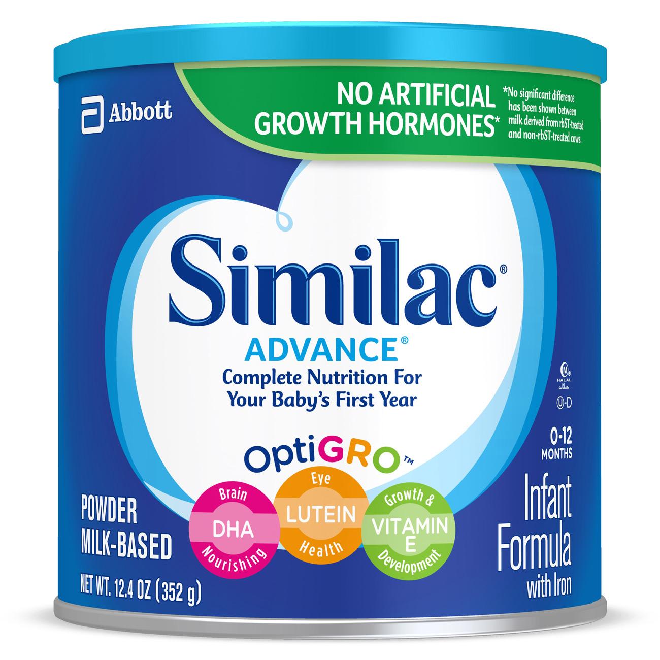 Sữa bột Similac Advance của Mỹ dành cho bé từ 0 - 12 tháng