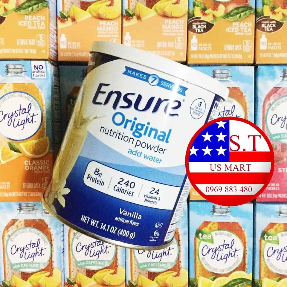Sữa Ensure 400g của Mỹ cho người bệnh, ăn uống kém
