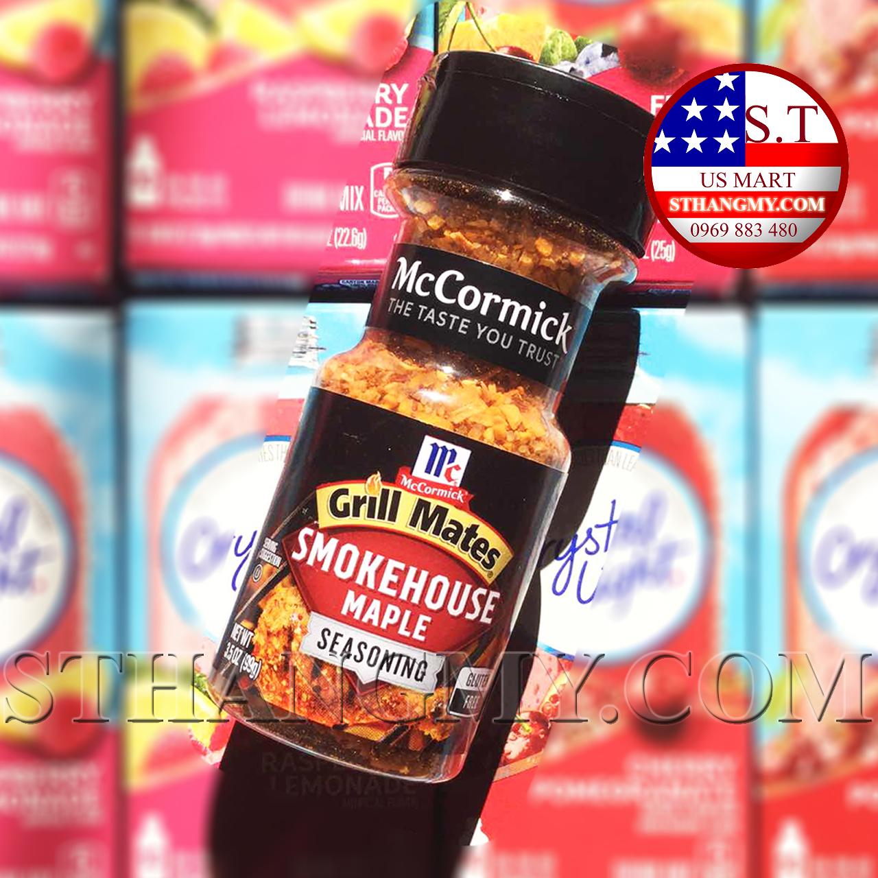 Gia vị ăn kiêng McCormick Smockhouse Maple của Mỹ - vị thảo mộc hun khói