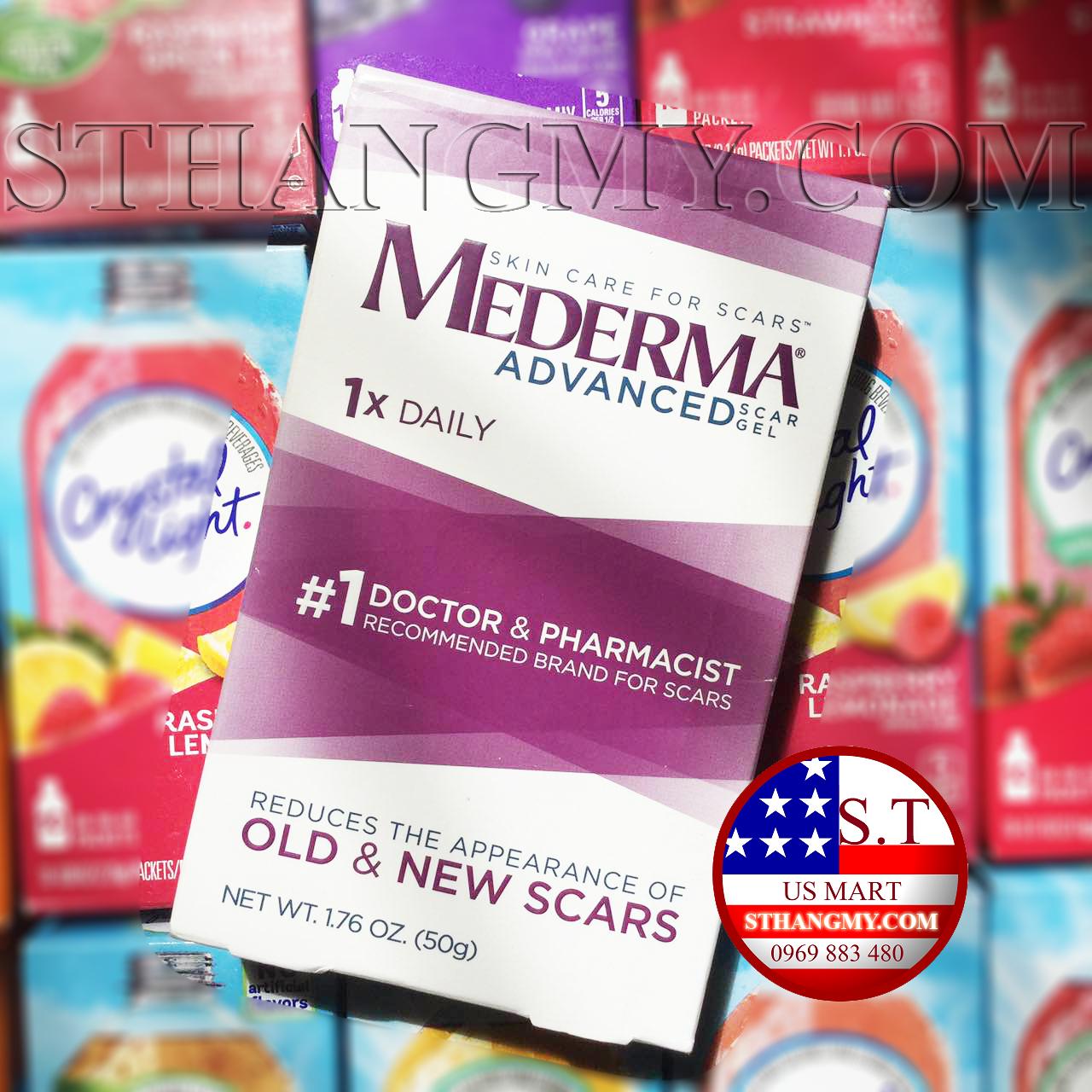 Hàng Mỹ - Kem làm mờ sẹo Mederma® tuýp lớn 50g