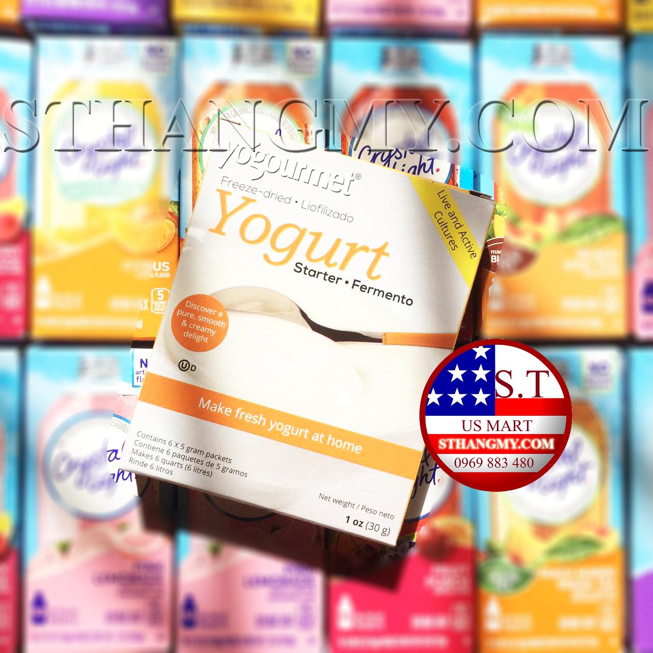 Men sữa chua Yogourmet (3 lợi khuẩn) Made in Canada