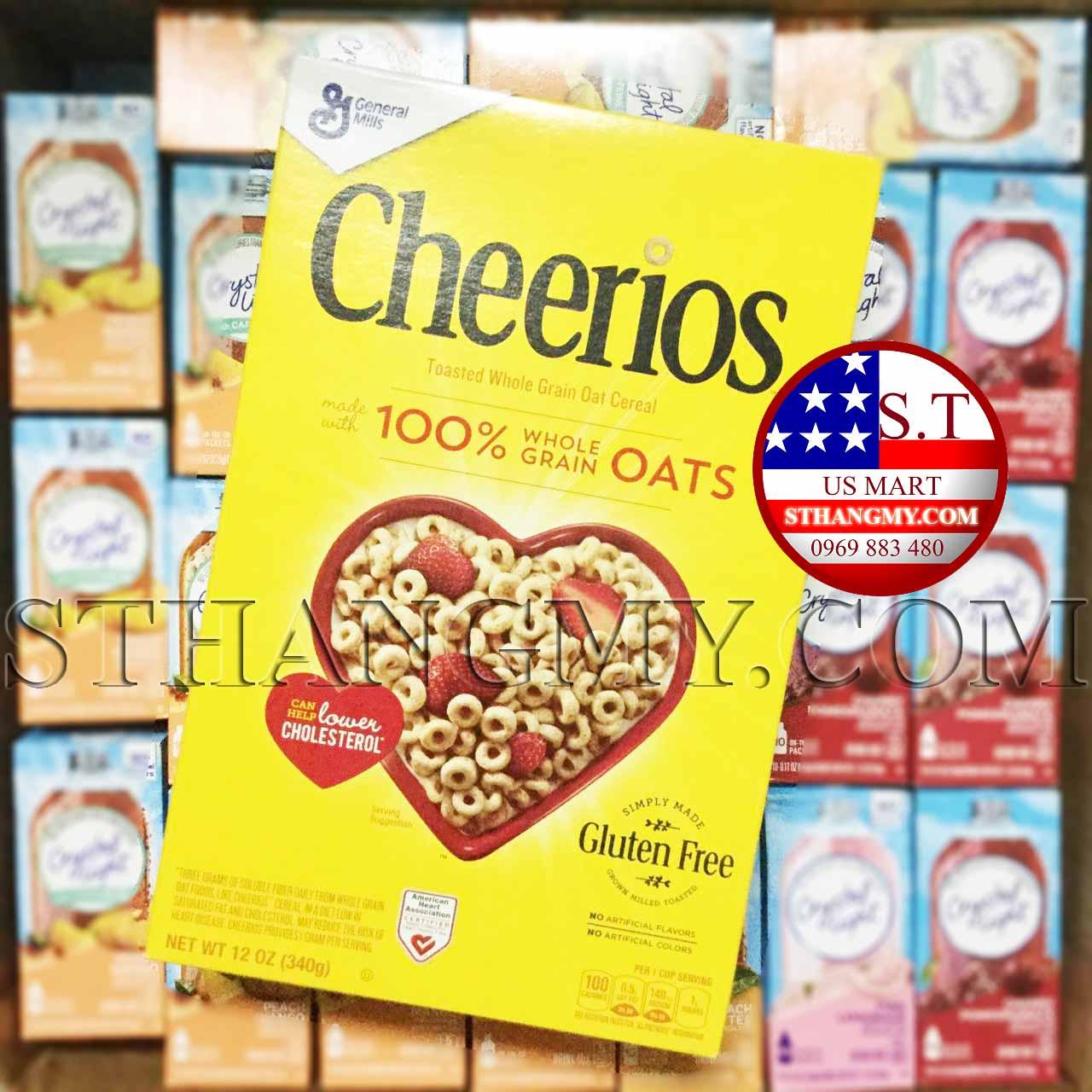 Ngũ cốc Cheerios 100% Whole Grain Oats 340gram