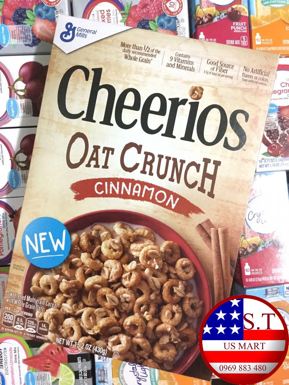 [NEW] Ngũ cốc Cheerios Oat Crunch Cinnamon 430g