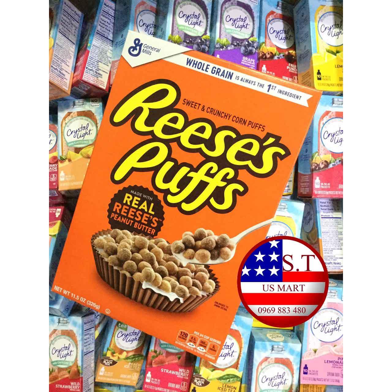 Ngũ cốc ăn sáng Reese's Puffs vị bơ đậu phộng 320 gram