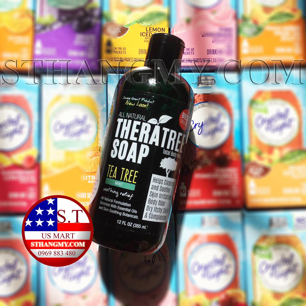 Sữa tắm trà xanh 100% Organic - TheraTree Tea Tree Oil Soap