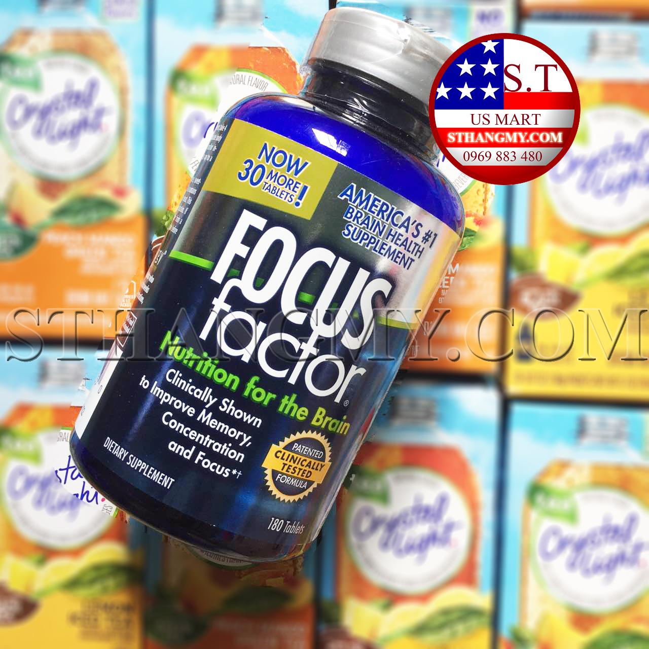 Focus Factor - Thực phẩm cho não bộ, cải thiện trí nhớ, tập trung, phản xạ