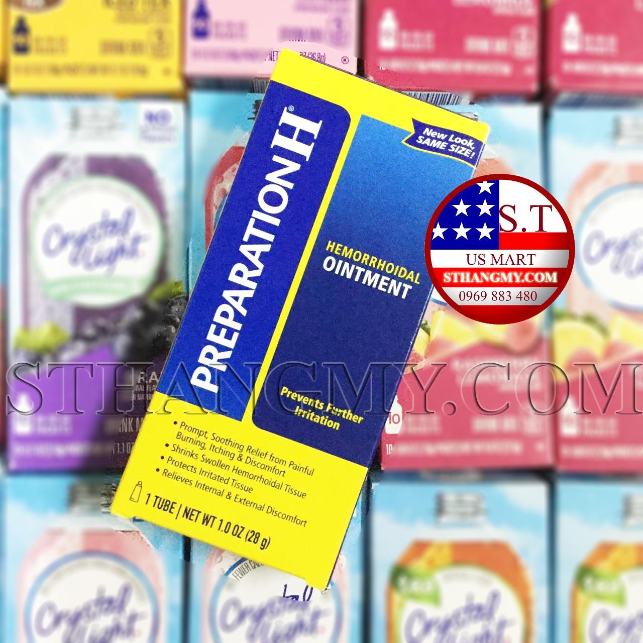 Thuốc mỡ bôi trĩ Preparation H® Ointment 28g - giảm đau, co búi trĩ.