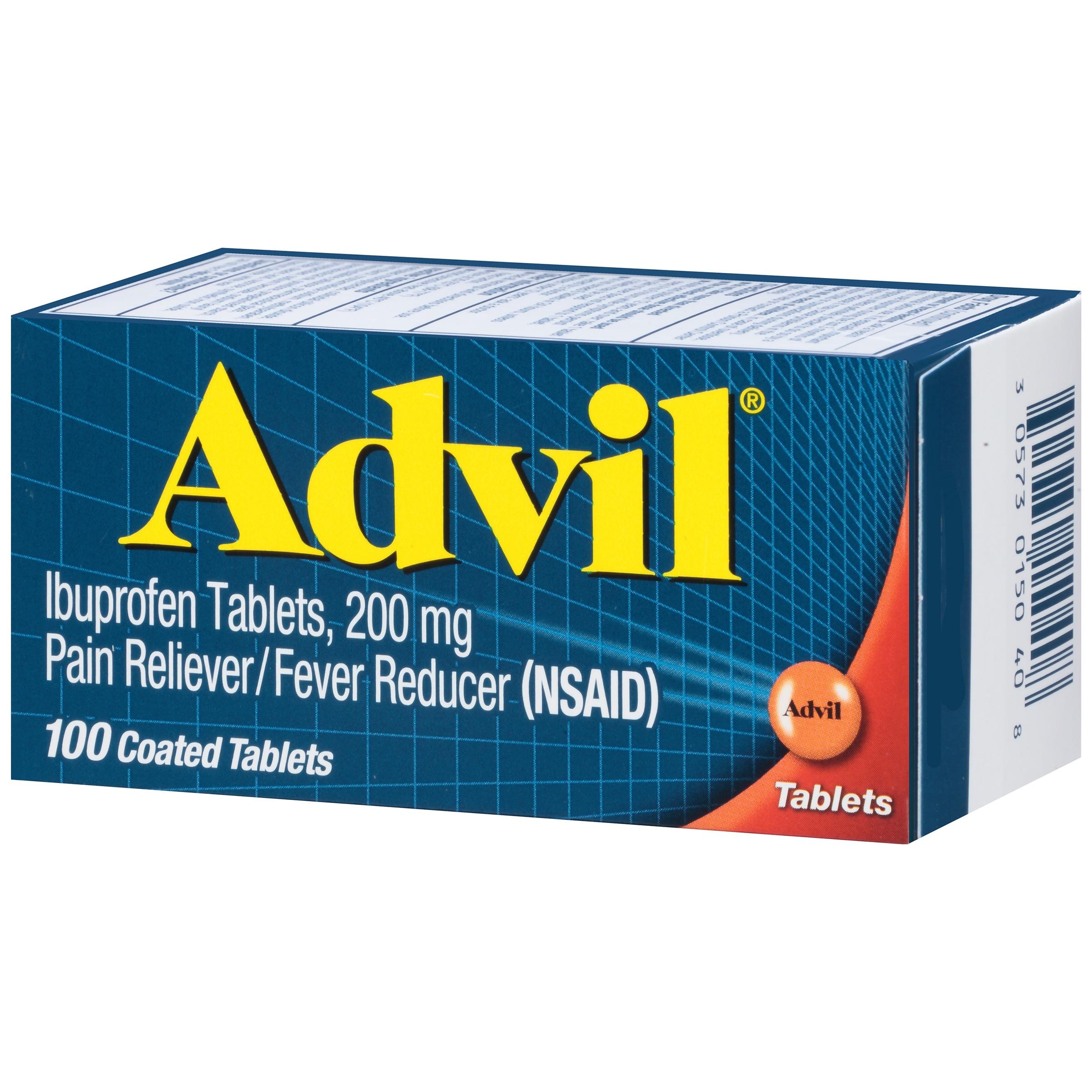 Thuốc giảm đau hạ sốt Advil 100 viên của Mỹ - Giảm nhức đầu, các triệu chứng đau khác