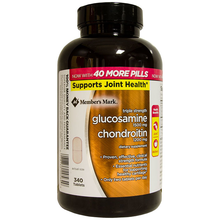 Viên bổ xương khớp Member's Mark Triple Strength Glucosamine Chondroitin 340v