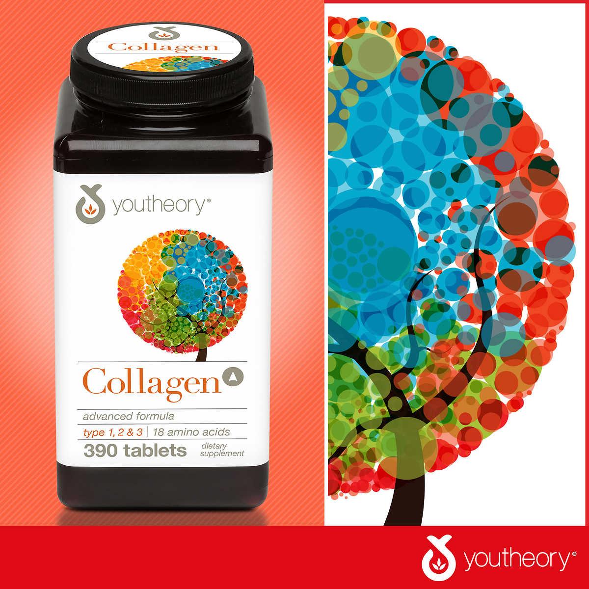 Viên uống bổ sung Collagen Youtheory Collagen Advanced Formula, 390 Viên