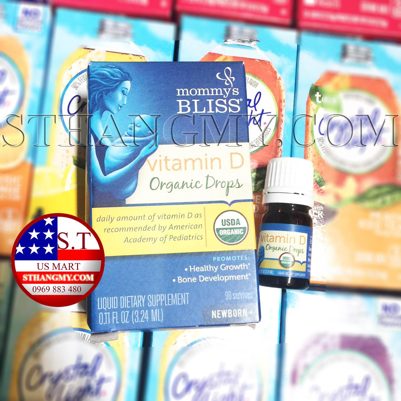 Vitamin D cho bé - Mommy Bliss Vitamin D Organic Drops 3.24ml