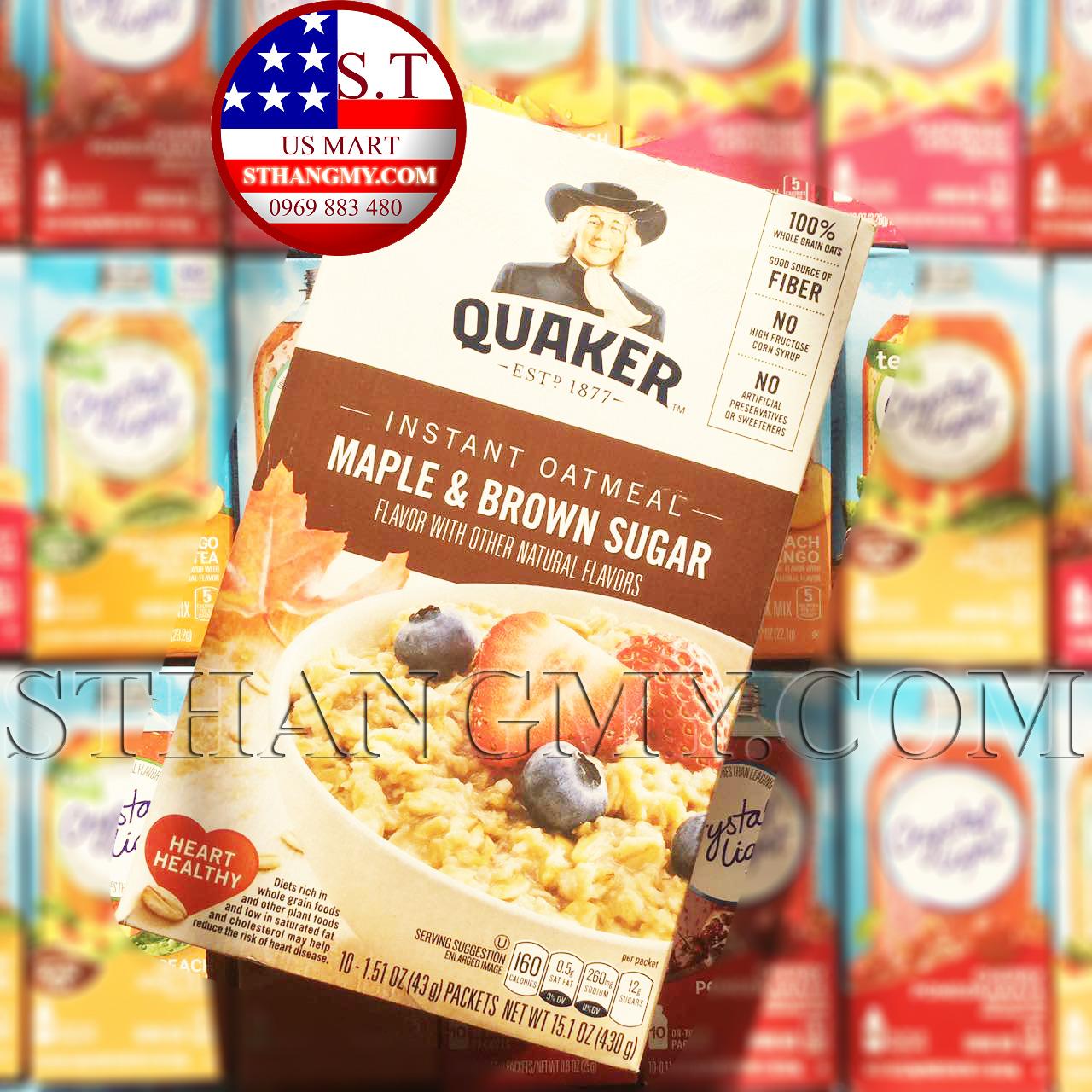 Yến mạch ăn sáng Quaker Maple & Brown Sugar