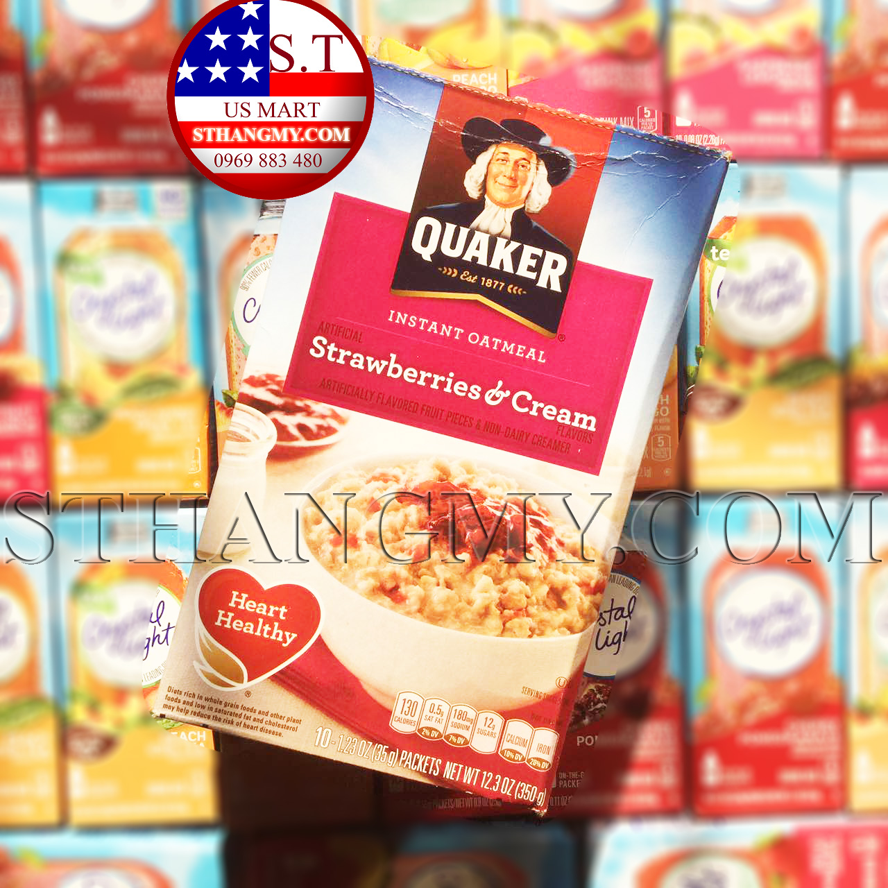 Yến mạch ăn sáng Quaker Strawberries & Cream